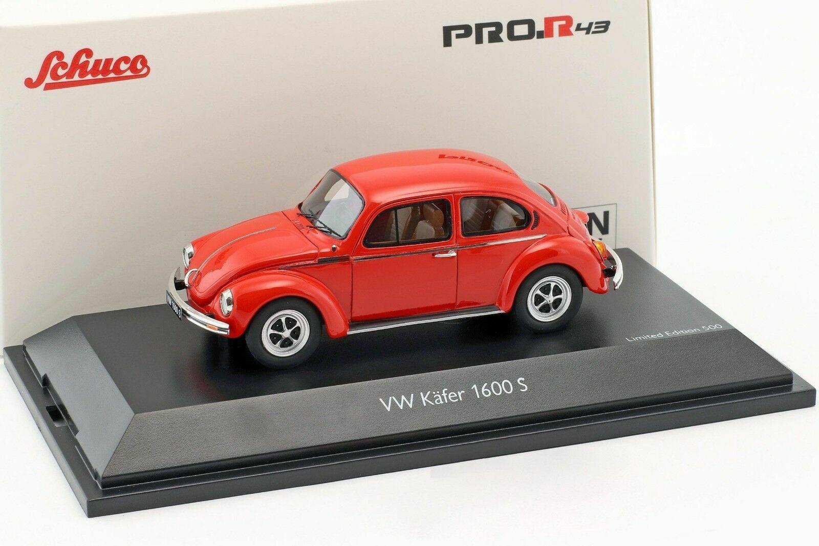 Schuco 1 43 Volkswagen Beetle 1600-S Super Bug red 450903900