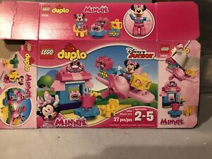 Lego-Duplo-Minnie-Mouse-Minnie-039-s-Cafe-Airplane-10830-Plane-Pink-90-complete