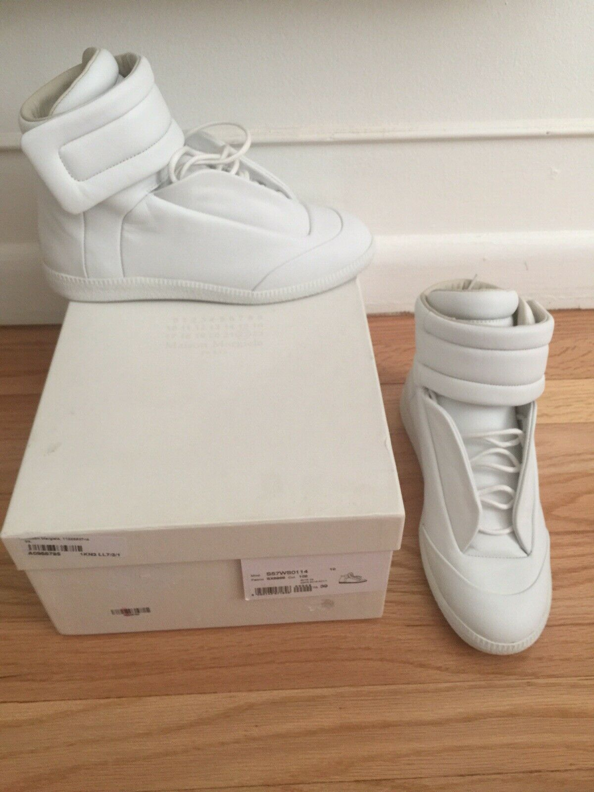 Maison Margiela Sneakers Hight Top White Leather US 6 39 New
