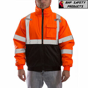 REFLECTIVE BOMBER II JACKET HI-VIZ ORANGE WATERPROOF TINGLEY CLASS 3 J26119