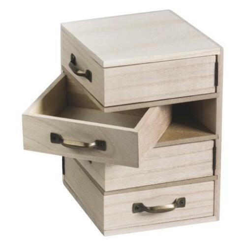 Knorr Prandell Bare Wood Box with Swing Out Drawers 12x12x18.5cm #218735457
