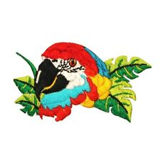 ID 0613 Parrot Macaw Bird Embroidered Iron On Applique Patch