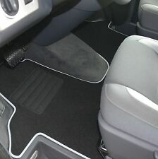 Premium Velour Fußmatte für VW T5 Transporter Doppelsitzbank ab Bj. 2003 - sil