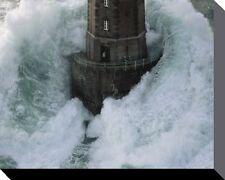 Lighthouse Print 19.75x15.7 Phares dans la Tempete La Jument by Jean Guichard