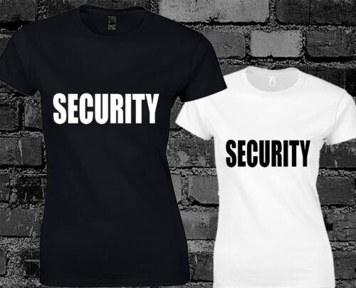 Sécurité mesdames t shirt robe fantaisie humour blague bouncer top cool fashion