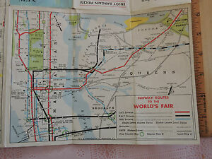 Nyc Subway Map Ebay.Details About Vintage 1964 1965 New York City Worlds Fair Guide Visitor S Nyc Subway Map Rca