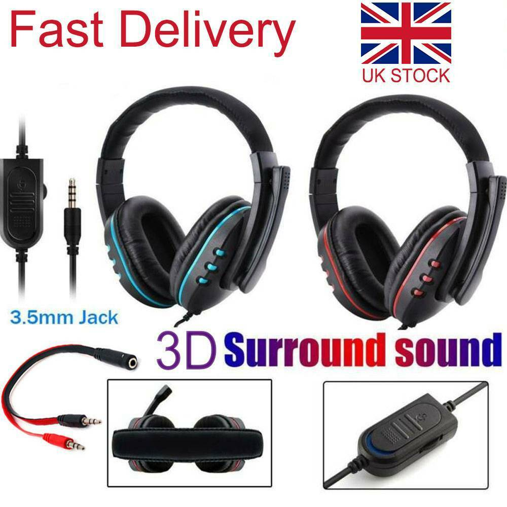 Gaming Headset Headphones With Microphone Mic for XBOX-ONE PS4 PC Laptop Switch