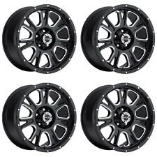 "Set 4 18"" Vision 399 Fury Black Milled Wheels 18x8.5 5x150mm +25mm Toyota 5 Lug"