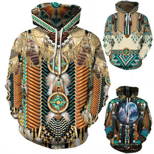 Indian-Chief-Native-Tribal-Totem-Ethnic-Hippie-Men-Women-Pullover-Hoodie-Jackets