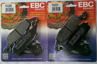Suzuki DL1000 V Strom (2002 to 2010) EBC Organic FRONT Disc Brake Pads (2 Sets)