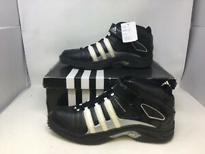 NEW! Adidas Men's Pro Intimidate 2 Turf Mid Football Shoe BLK/SLV Size:18 W80 t