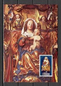 Maxi Card B35 Liechtenstein 1982 Christmas Madonna Child Jesus