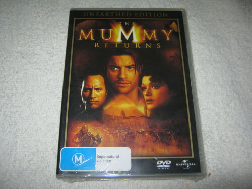 1 of 1 - THE MUMMY RETURNS - UNEARTHED EDITION - DVD MOVIE - NEW & SEALED - REGION 4