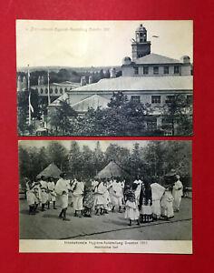 2-x-AK-DRESDEN-1911-Intern-Hygiene-Ausstellung-mit-Abyssinisches-Dorf-51774