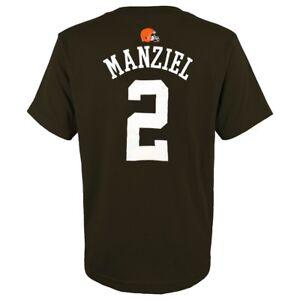 Johnny-Manziel-NFL-Cleveland-Browns-034-Mainliner-034-Jersey-Brown-T-Shirt-Boys-4-7