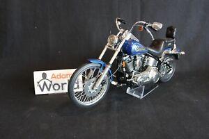 Revell-built-kit-Harley-Davidson-FXSTC-Softail-Custom-1-9-blue-used