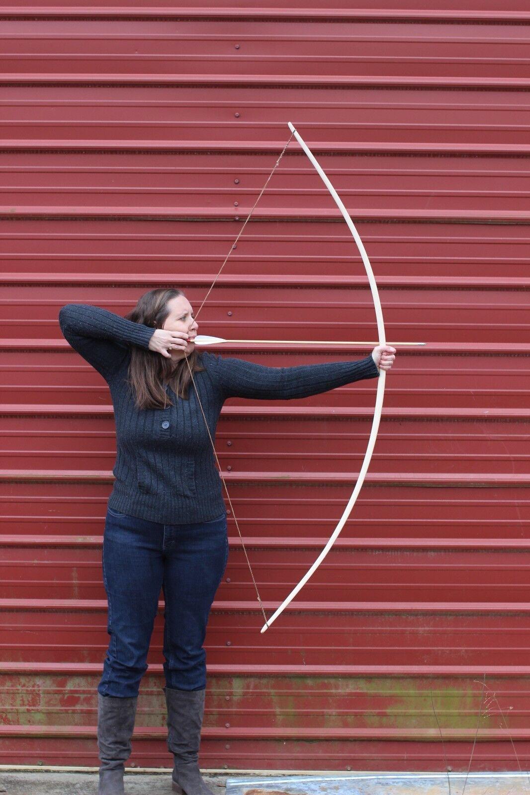 Hecho a mano estilo inglés tradicional Longbow Hecha De Hickory 40lbs @ 28