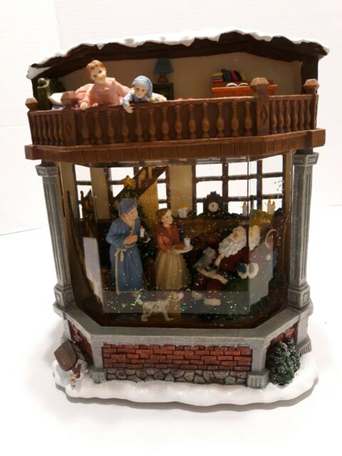 Kirkland Santa Milk And Cookies Water Window Musical Snow Globe For Sale Online Ebay