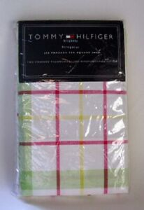Tommy-Hilfiger-Standard-Size-Cotton-Pillowcases-Lafayette-Square-PLAID-NEW-NWT