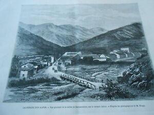 Acheter Pas Cher Gravure 1871 - La Percée Des Alpes Vue Générale De La Vallée De Bardonnèche Aussi Efficacement Qu'Une FéE