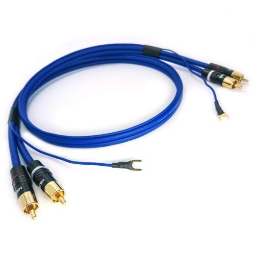Phonokabel Cinch 5m SOMMER CABLE 3x 0,35mm² Masseleitung vergoldet SC81-K-0500