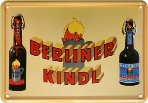 Berliner-Kindl-Malz-Bier-Beer-Reklame-Blechschild-Postkarte-Blechkarte-PKM-184