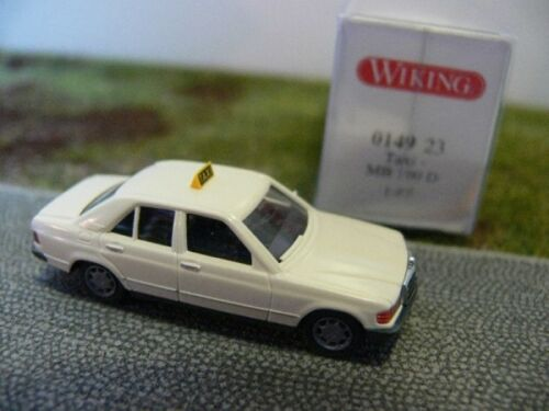 1//87 Wiking MB 190 D Taxi elfenbein 0149 23