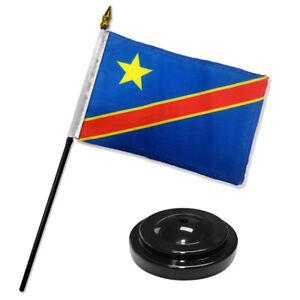 "Alaska State Flag 4/""x6/"" Desk Set Table Stick Black Base"