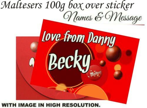 Personnalisé bonbons boîte 100 g étiquette ou toute occasion x2