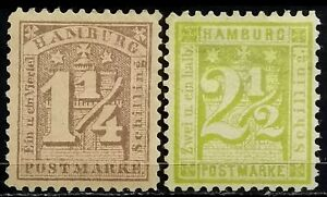 Germany-Hamburg-gt-1864-gt-Unused-gt-Coat-of-Arms-Perforated
