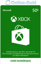 Crédit Xbox Live de 50 EUR Code Digital - €50 EUR Xbox 360 One Carte Cadeau - FR