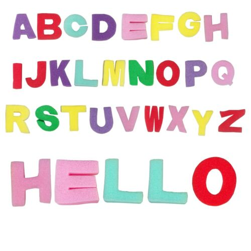 Full Alphabet Foam Sponge 26 Capital Letters Painting Printing Bath Time Play
