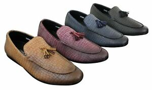 Image is loading Mens-moccasins-vintage-style-crocodile-snake-leather-pu- d6911ee3fe65