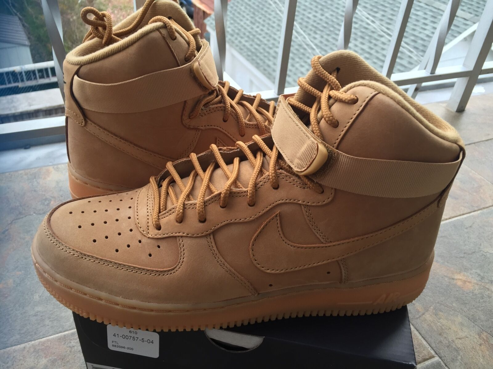 2018 Nike Air Force 1 High '07 LV8 Wheat Flax Gum Brown 882096-2018 Men and GS Comfortable and good-looking