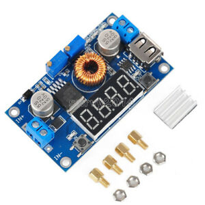 TOP 5A CC CV LED Drive Lithium charger Power Step-down Module W// USB Voltmeter