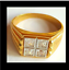 thumbnail 6 - Men's Gold Plated Cocktail Ring Sizes 8 10 14.5  Square Cubic Zirconia Fashion
