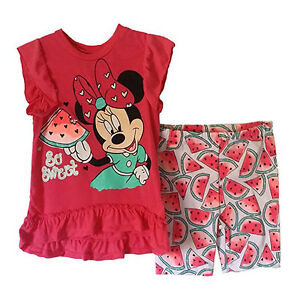 Girls-039-Bike-Short-Set-Minnie-by-Disney