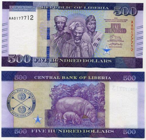 500 Dollars 2016 UNC Liberia
