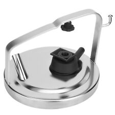 Stainless Steel Milk Bucket Pail Cover Lid With Gasket Plug Dc