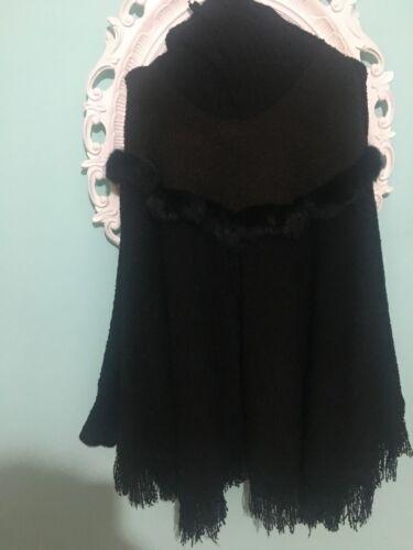 Donna T Size In Pelliccia Mantella Con U Jacket Inserti Giacca Tag 4zqE81