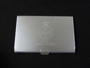 Business card holder RGJs Royal Green Jackets Engraved Credit card