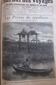 Zeitung-der-Voyages-Nr-712-von-1891-M-urs-Afrika-Tribus-die-Popos-Graeber