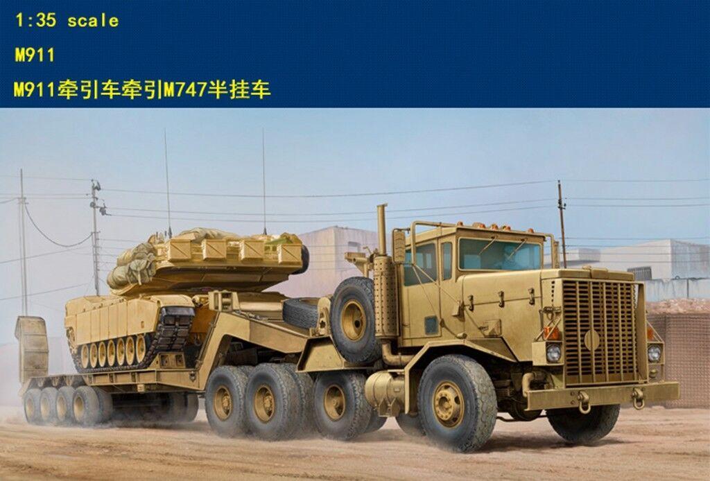 Hobby Boss 1 35 85519 US M911 C-HET w m747 Heavy Equipment Semi-Trail model kit▲