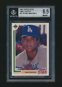 1991 Upper Deck Final Edition #2F Pedro Martinez Rookie Beckett 8.5 Dodgers