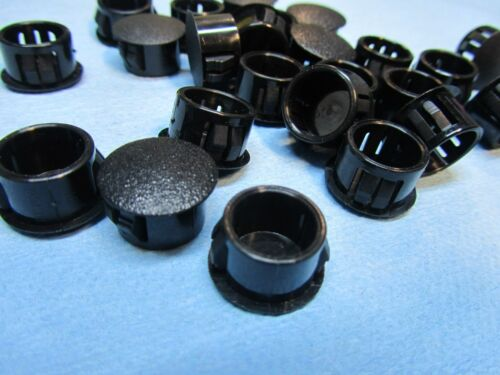 Lot of 25 Hole plugs HEYCO 2653 snap in Locking-button cover for .562 Hole