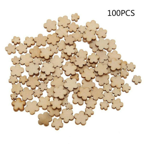 100PCS en bois de densité moyenne carton Hearts Shape Craft forme balises Ornements Décoration 3 mm