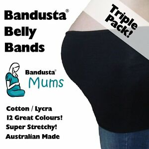 Belly Belts, Bands Medium Tummy Tubes Band Tube Triple Pack An Enriches And Nutrient For The Liver And Kidney Maternity Clothing 3 X New Bandusta® Belly Bands Small