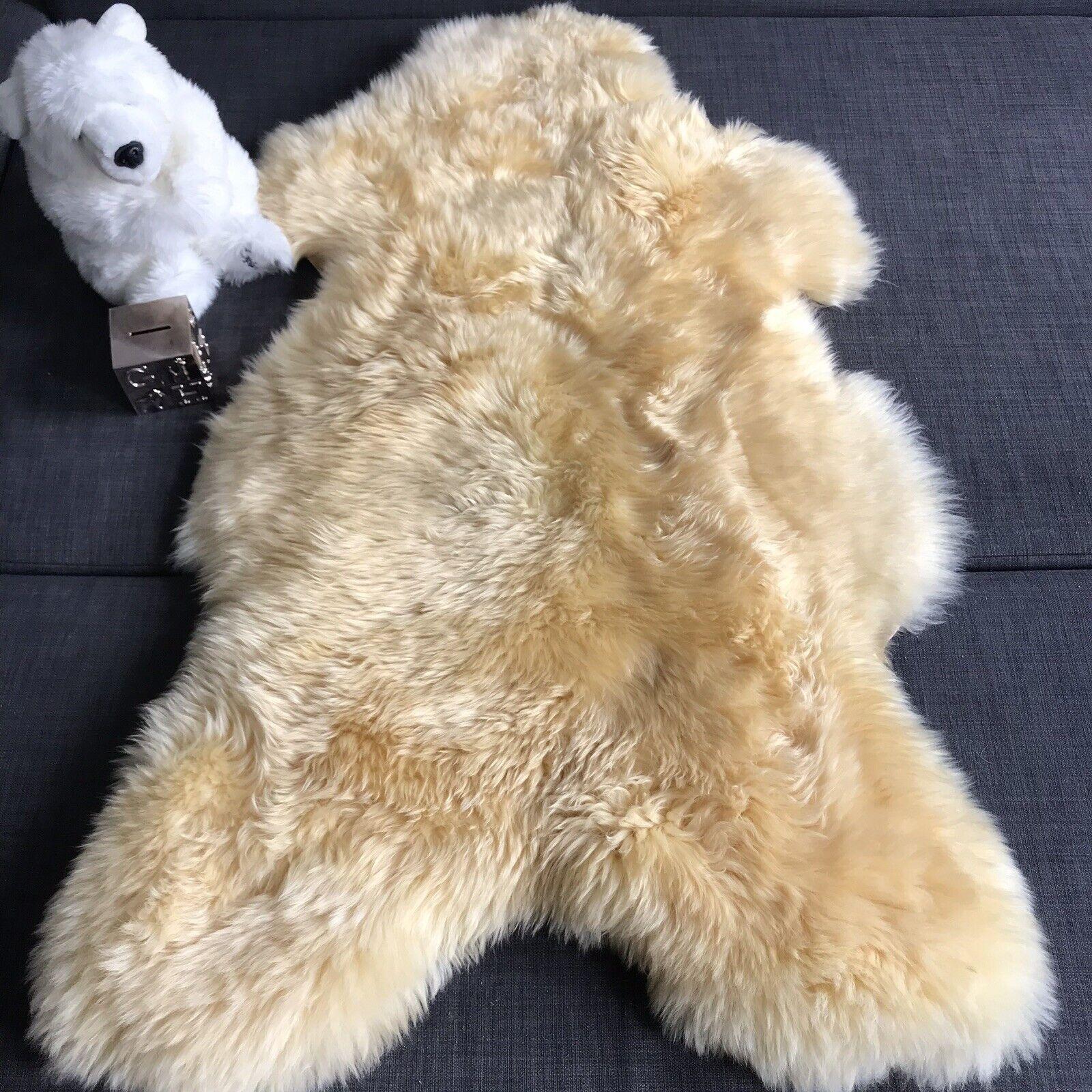 100% Natural Sheepskin For   & Medical Relugan XL 120cm Long Fur 50mm
