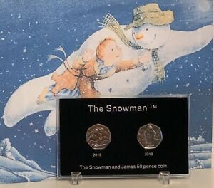 2018-2019-The-Snowman-50p-Coin-Empty-Display-Case-For-Christmas-Gift-NO-COINS