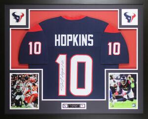 Details about DeAndre Hopkins Autographed & Framed Blue Houston Texans Jersey JSA COA D3-L